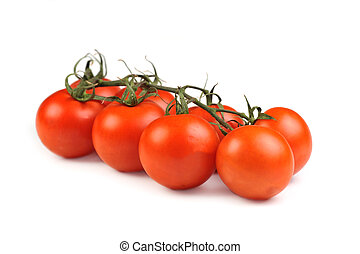 tomatos bunch isolated on white