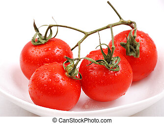 tomatos in a plate
