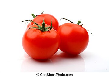 tomatos isolated on white background close up