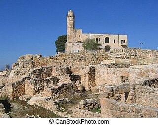Tomb of the Prophet Samuel, near Jerusalem in Judea Desert, Israel