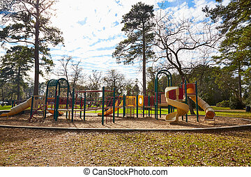 Tomball Burroughs park playground in Houston Texas