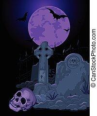 tombe, halloween