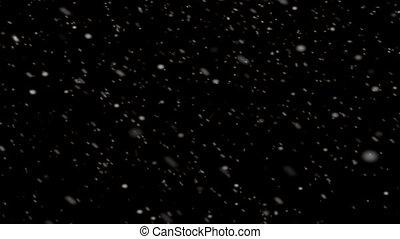 tomber, animation, neige, fond, boucle