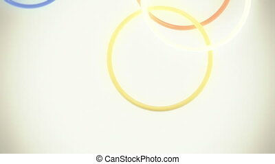 tomber, anneaux, coloré, boucle