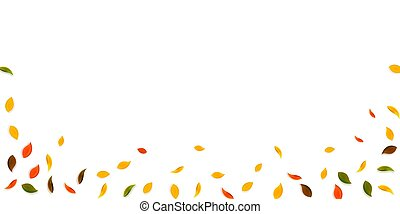 tomber, brun, r, automne, jaune, leaves., rouges, vert