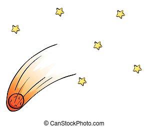 tomber, ciel, étoiles
