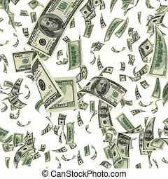 tomber, factures, dollar