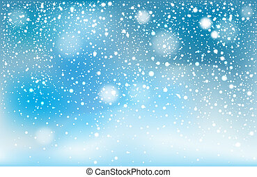 tomber, hiver, fond, neige