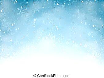 tomber, neige, fond