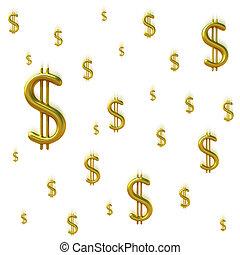 tomber, signes dollar