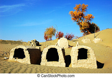Tombs in the desert