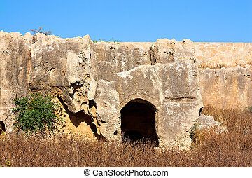 Tombs of the Kings, Paphos, Cyprus. UNESCO World Heritage Site.