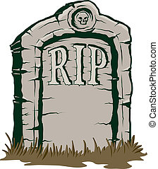 Tombstone - An Illustration of a stone tombstone rip