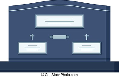 Tombstone crypt vector construction for dead people isolated...