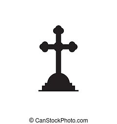Tombstone icon isolated on white background