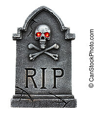 Tombstone isolated on a white back ground