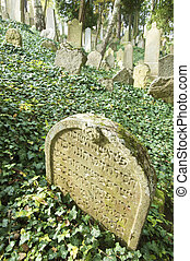 tombstone in a Jewish cemetery