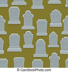 Tombstone seamless pattern. Old gravestone ornament. Cemetery background. rip texture. Grave Ancient. Tombs With cracks