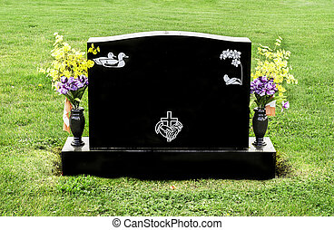 Tombstone - A headstone that is blank and can be filled in...