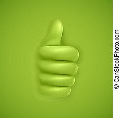 tommelfingre oppe