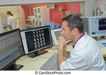tomografía, computado, análisis