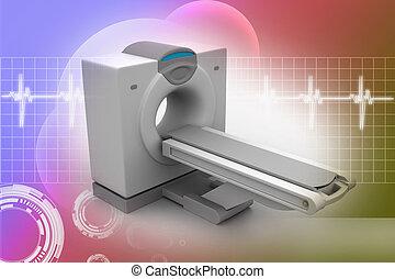 tomografía, explorador, ct