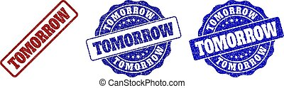 TOMORROW Scratched Stamp Seals