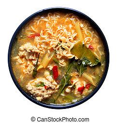 tomyum noodle thai food Style - noodle tomyum Thai food on ...