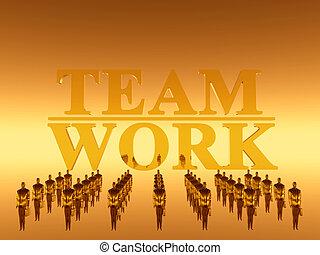 ton, équipe travail, collaboration