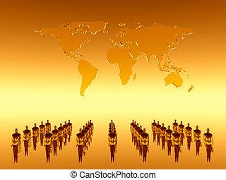 ton, équipe travail, collaboration, global