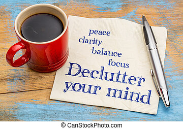 ton, declutter, esprit, conseil