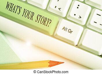 ton, question., s, conceptuel, sur, projection, propre, mon, journey., demandé, être, texte, photo, histoire, quelqu'un, signe, quel