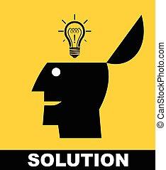 ton, solution, solution., exposition, haut
