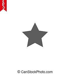 ton, style, conception, app, symbole, illustration, isolé, branché, icône, eps10, vecteur, logo, classement, ui., site, étoile, toile, arrière-plan., plat, gris