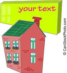 ton, table, maison, texte