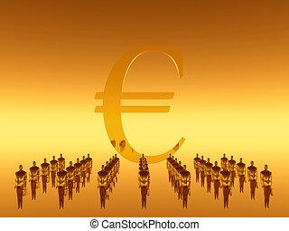 ton, travail, financier, euro, équipe