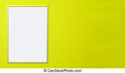 ton, vide, wall., vert, salle, ajouter, panneau affichage, propre, text., bannière