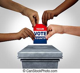 ton, vote, compte