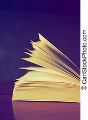 tonalité, couleur, vendange, livre, lumière, ouvert