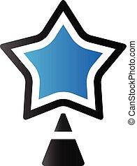 tonalité, duo, -, arbre, étoile, noël, icône