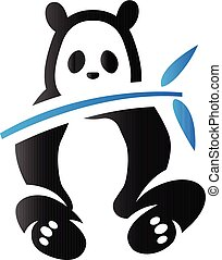tonalité, duo, -, panda, icône