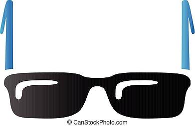 tonalité, lunettes, -, duo, icône