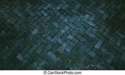 tonalité, vague, surface, 4k, brique, pierres, peu, ancien, ...