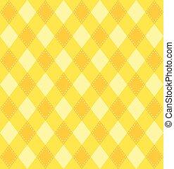 tonalités, plaid, modèle, jaune