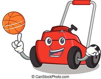 tondeuse, forme, basket-ball, mascotte