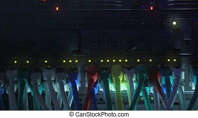 toned bleu, réseau, moyeu