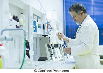 toned, image), científico, investigador, gás, (shallow, ...