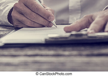 toned, signing, бизнес, образ, контракт, рука, мужской