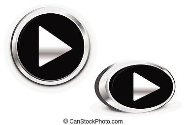 toneelstuk, Afgerond, eenvoudig, knoop,  start, Muziek, Concepten,  video, cirkel, activering,  Multimedia