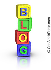 toneelstuk, blokjes, :, blog